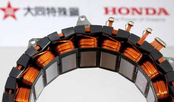 Honda crea el primer motor eléctrico sin metales raros