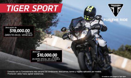 Es la oportunidad de llevarte una Triumph Tiger Sport