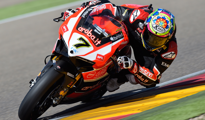 El circuito de Lausitzring en Alemania fue el escenario en el que Chaz Davies subió al podio a Ducati con un soberbio doblete, Rea y Melandri completaron el podio