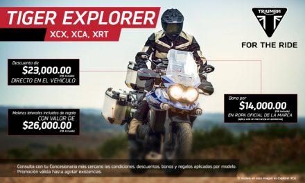 XCX, XCA, XRT son los modelos de la Tiger Explorer que te puedes llevar fácilmente
