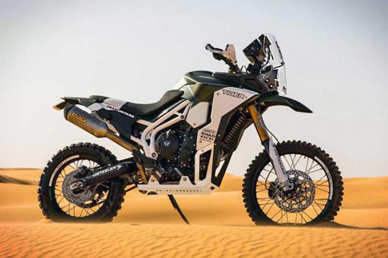 Triumph Tiger Tramontana, preparada para el desierto africano