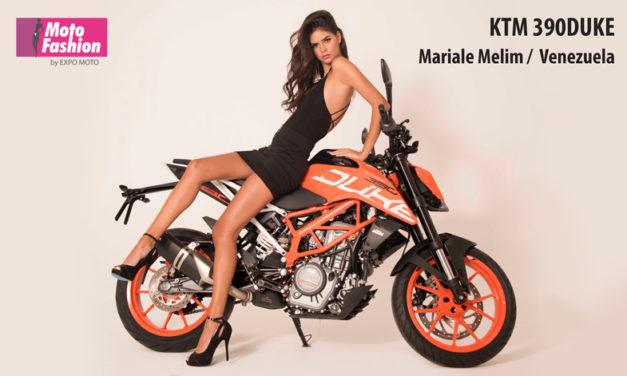 Mariale Melim con su impactante belleza, viene a imponer su estilo en las pasarelas de Moto Fashion, en el marco de la décimo octava edición de Expo Moto 2017
