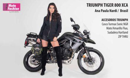 La Tiger 800 XCA despunta con la belleza de Ana Paula Nardi