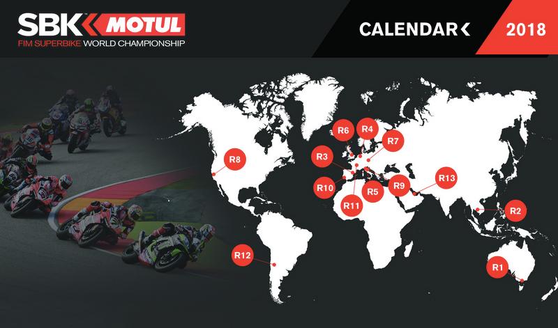 Ya tenemos calendario para el Campeonato Mundial de Superbike