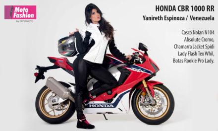 Roba miradas la Honda CBR1000RR  y la belleza de Yanireth Espinoza