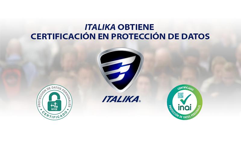 ITALIKA obtiene certificado en protección de datos