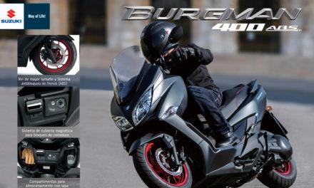 ¡Burgman 400 funcionalidad y confort a donde vayas!