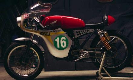A manera de homenaje llega la customizada Honda RC166, inspirada en una pieza de los años 60