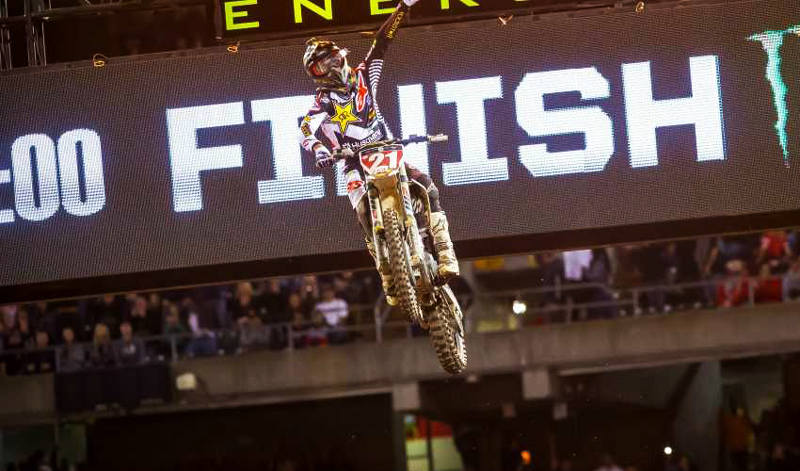 Anderson sorprende con su triunfo en el AMA Supercross en Oakland