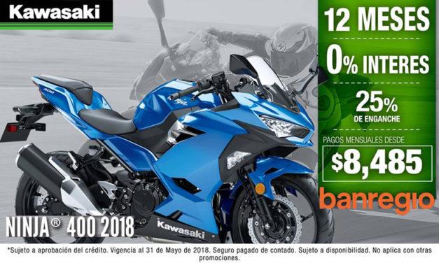 La nueva Ninja 400 también está disponible a meses SIN INTERESES
