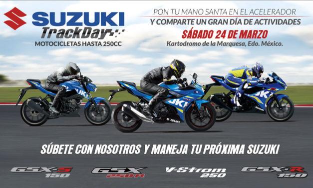 ¡Llega el primer Suzuki Track Day del año!
