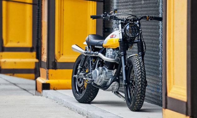 La Yamaha XT500 Ray of Sunshine está inspirada en el calor de Baja California, es ideal para esta primavera