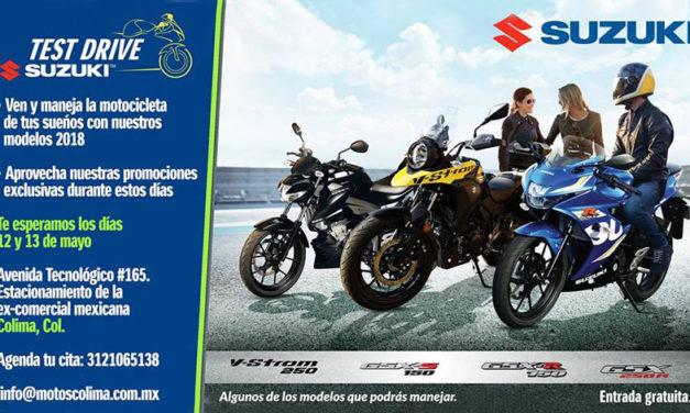 Amigos de Colima, prepárense que el Test Drive Suzuki llega a su ciudad