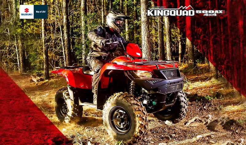 Conquista todo terreno con la SUZUKI Kingquad 500AX  4×4
