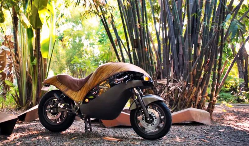 Conoce la Green Falcon, una moto única elaborada a base de bambú