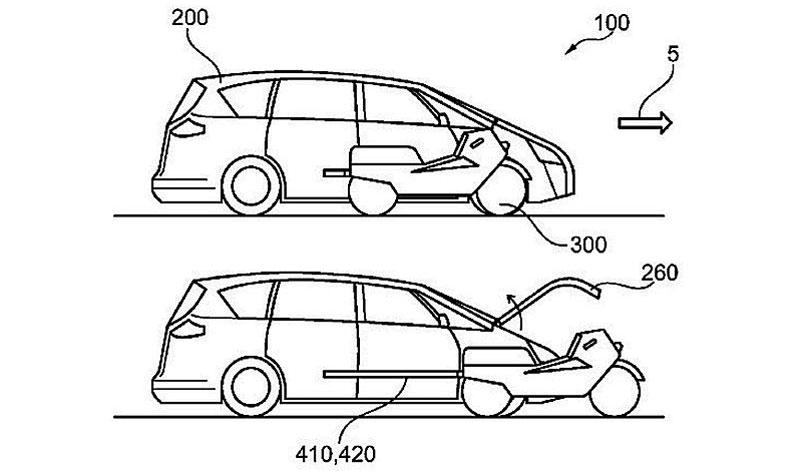 Tu moto y tu auto en un mismo lugar: descubre la nueva patente de Ford