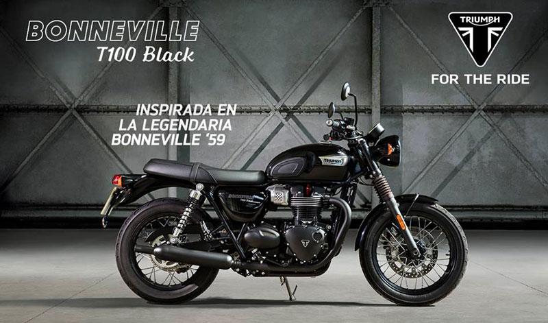 Bonneville T100 Black, con actitud urbana y elegante