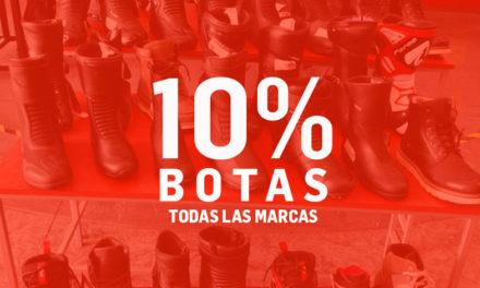 Estrena botas con Motocity, 10% de descuento en todas las botas de existencia