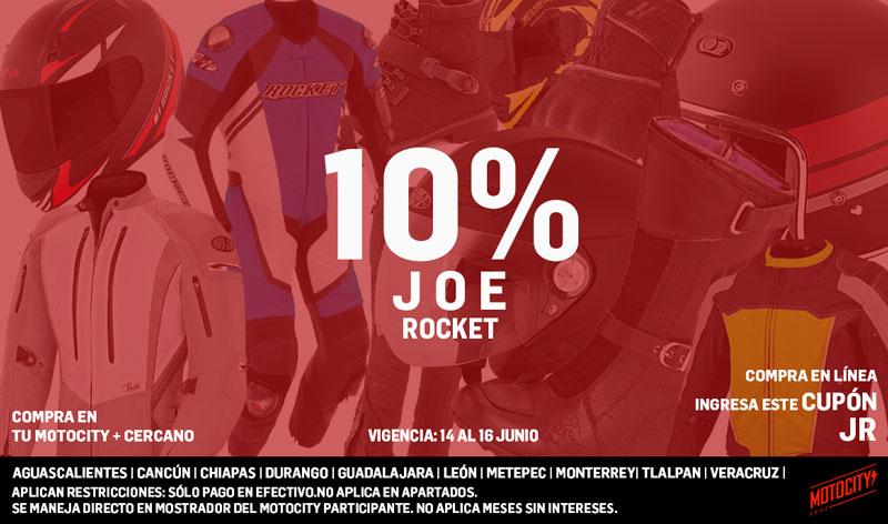 Semana de descuentos en mercancía Joe Rocket en Motocity