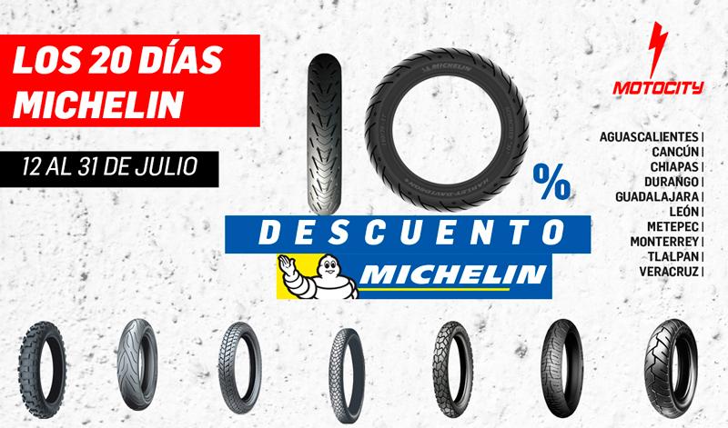 Llegaron los 20 días Michelin a Motocity