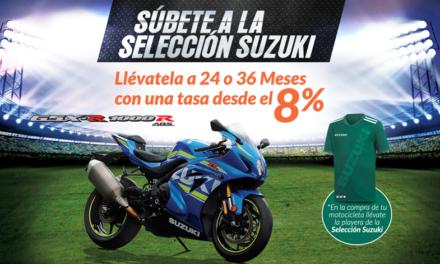 Estrena la motocicleta de tus sueños con Suzuki y Banregio