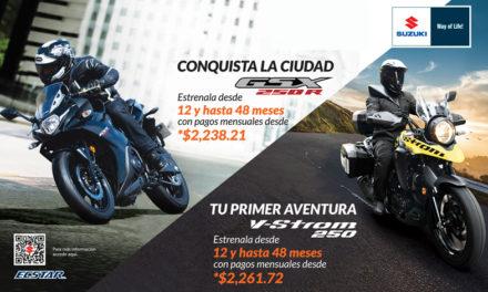¡Nunca había sido tan fácil estrenar una motocicleta Suzuki!