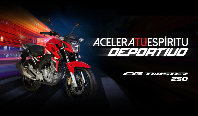Acelera tu espíritu deportivo y enamórate de la nueva CB250 Twister de Honda