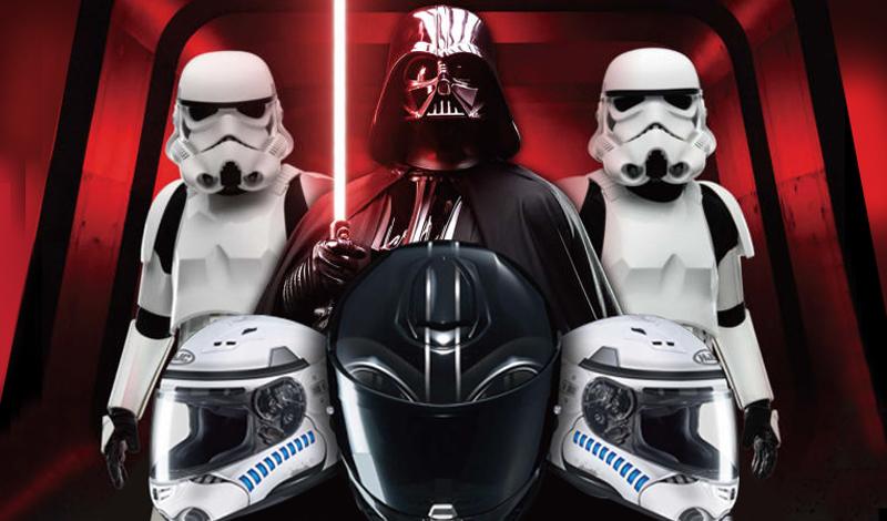 Rueda como Darth Vader o como uno de los Stormtroopers