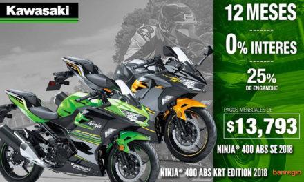 Ninja 400 ABS, disponible a meses SIN INTERESES