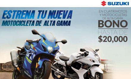 """Estrena tu nueva motocicleta de alta gama con Suzuki"""