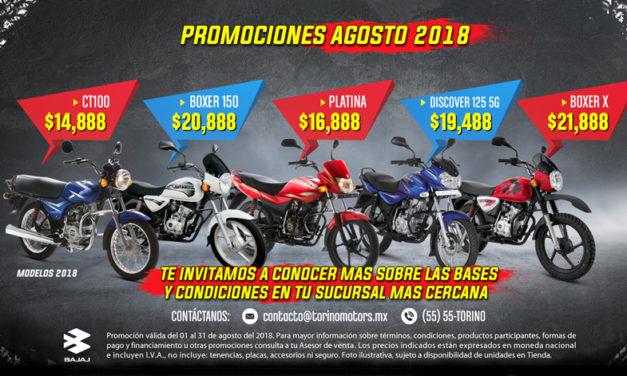 Agosto está de oferta en motos marca BAJAJ