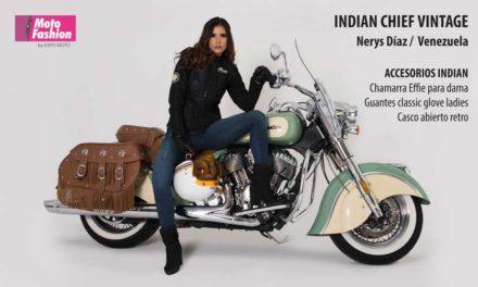 Refinada y con una potencia increíble, la Indian Chief Vintage es la favorita de Nerys Díaz