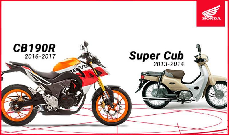 ¡ATENCIÓN! ¿Eres propietario de una CB190R o una Super Cub?