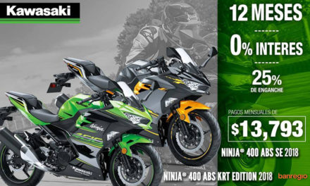 Ninja 400 ABS, disponible a meses SIN INTERESES