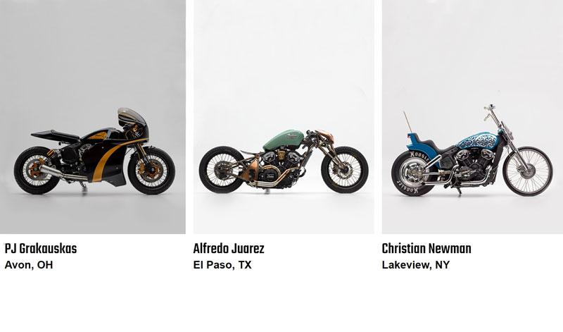 ¡Tres motocicletas únicas!