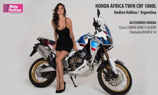 Al extremo con la Honda Africa Twin y Nadina Vallina