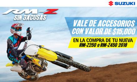 """Únete SIN 3XCUSAS al mundo del motocross con las RM-Z de Suzuki"""