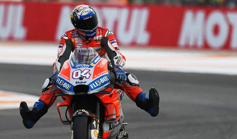 Última carrera de MotoGP con la victoria de Andrea Dovizioso
