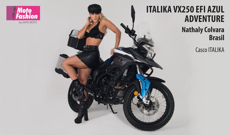 Nathaly demuestra que la belleza combina con una buena moto