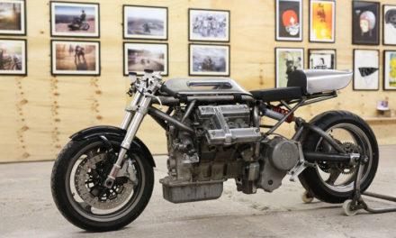 ¡Un motor V6 de auto para una motocicleta!, algo insólito