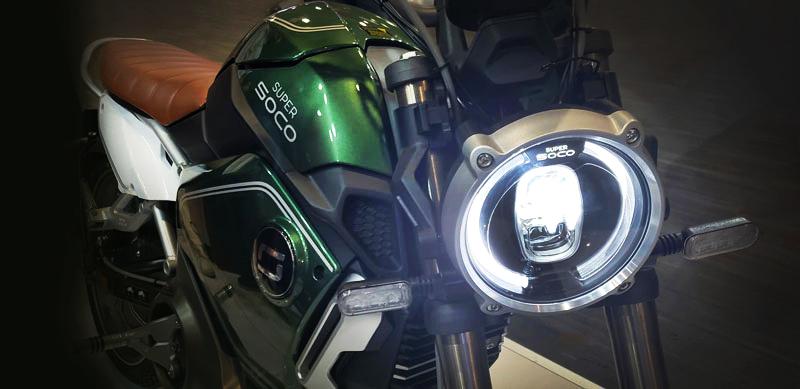 Elige rodar hacia el futuro a bordo de una Super SOCO TC