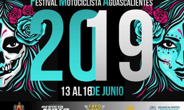 Festival Motociclista Aguascalientes, del 13 al 16 de junio de 2019