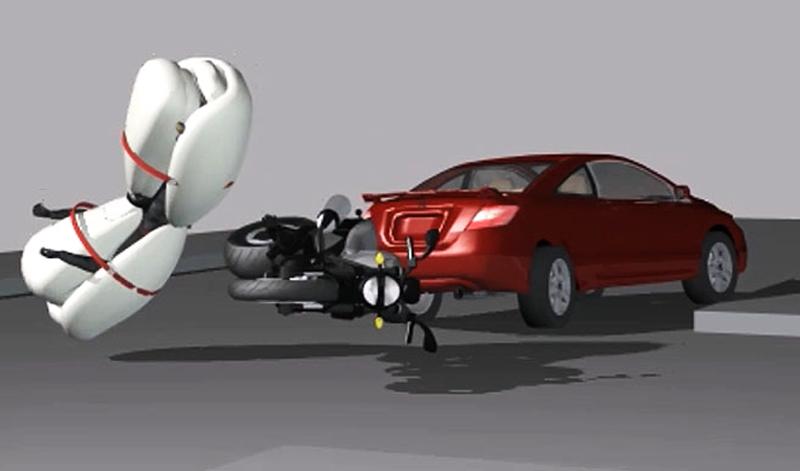 Bolsa de aire completa para motociclistas: una idea que podría salvar muchas vidas