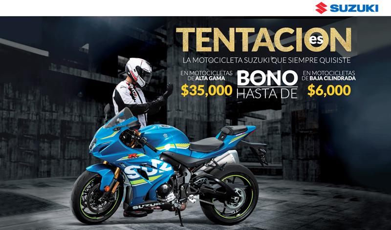 ¿Estás listo para estrenar una moto con las TentacionEs de Suzuki?
