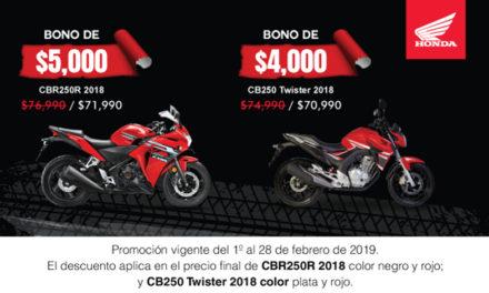 ¡Es tu momento, estrena una #CB250 Twister o una fabulosa CBR250R 2018!