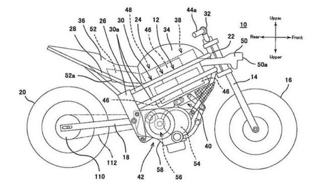 Kawasaki patenta su primera moto eléctrica, ¡una Ninja H2!