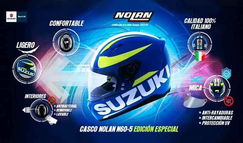 Edición especial, casco Suzuki / Nolan