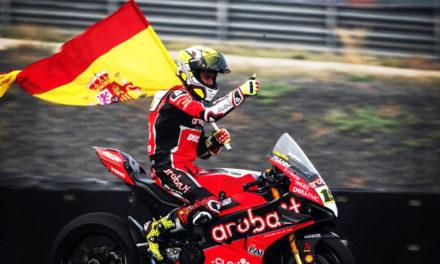 Álvaro Bautista vuelve a triunfar en el Campeonato Mundial de Superbikes