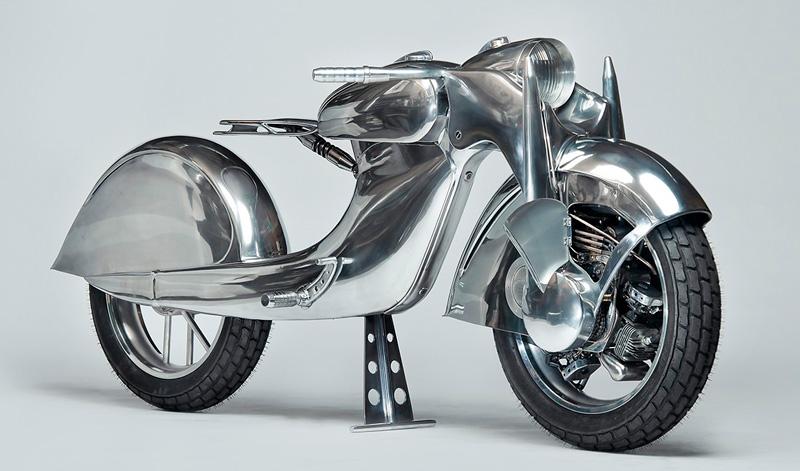 Motor en rueda delantera y un diseño extremadamente futurista