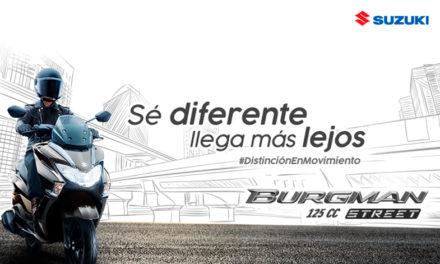 Distinción en movimiento, Suzuki Burgman 125 cc Street